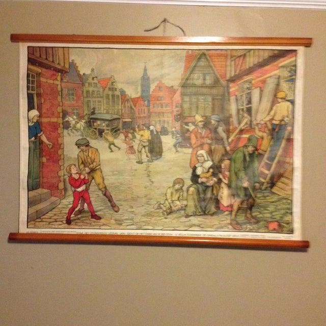 Vintage Belgian History School Chart Art - Image 2 of 10
