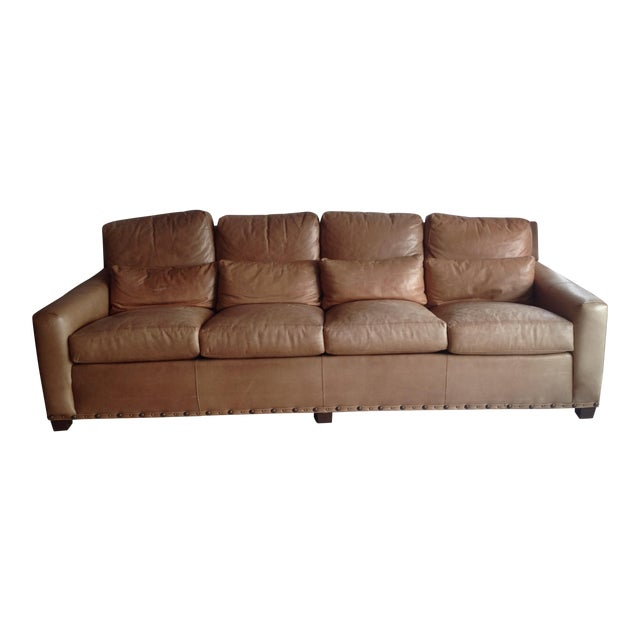 Stickley Monterey Leather Sofa Chairish
