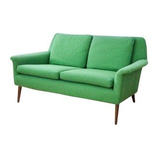 Mid-Century Folke Ohlsson Green Loveseat Sofa
