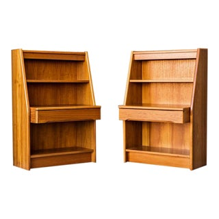 Danish Modern Teak Nightstands - A Pair
