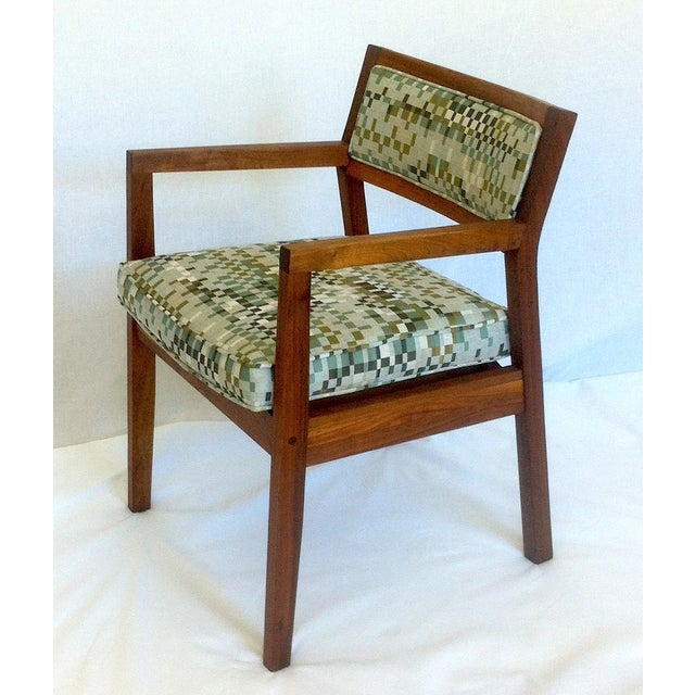 Mid-Century Walnut Upholstered Armchairs - A Pair - Image 4 of 7