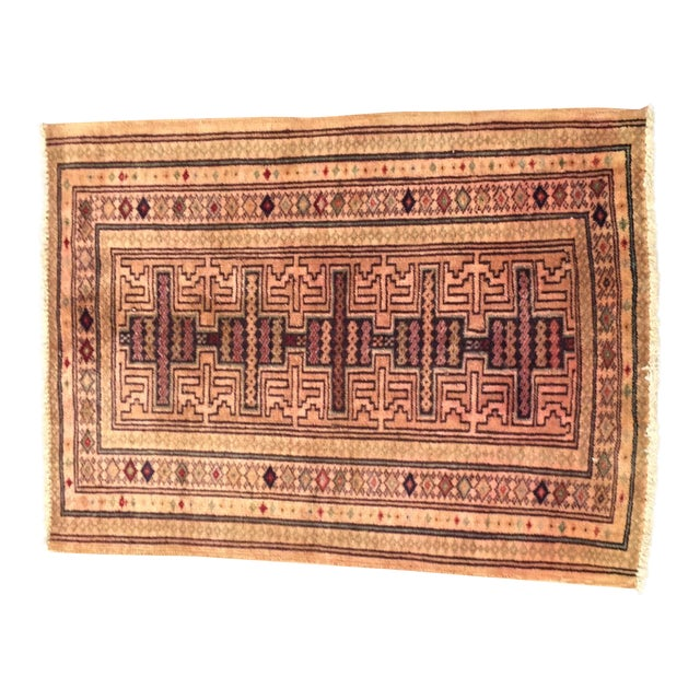 Turkaman Persian Rug - 1′11″ × 2′7″ - Image 1 of 7