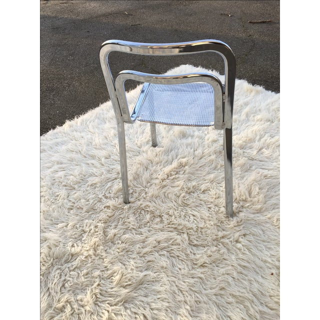 Vintage Chrome Stacking Chairs - 6 - Image 6 of 7