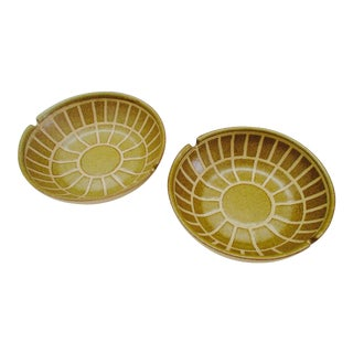 Martz Ashtray Dish Ceramic Studio Starburst Pottery - A Pair