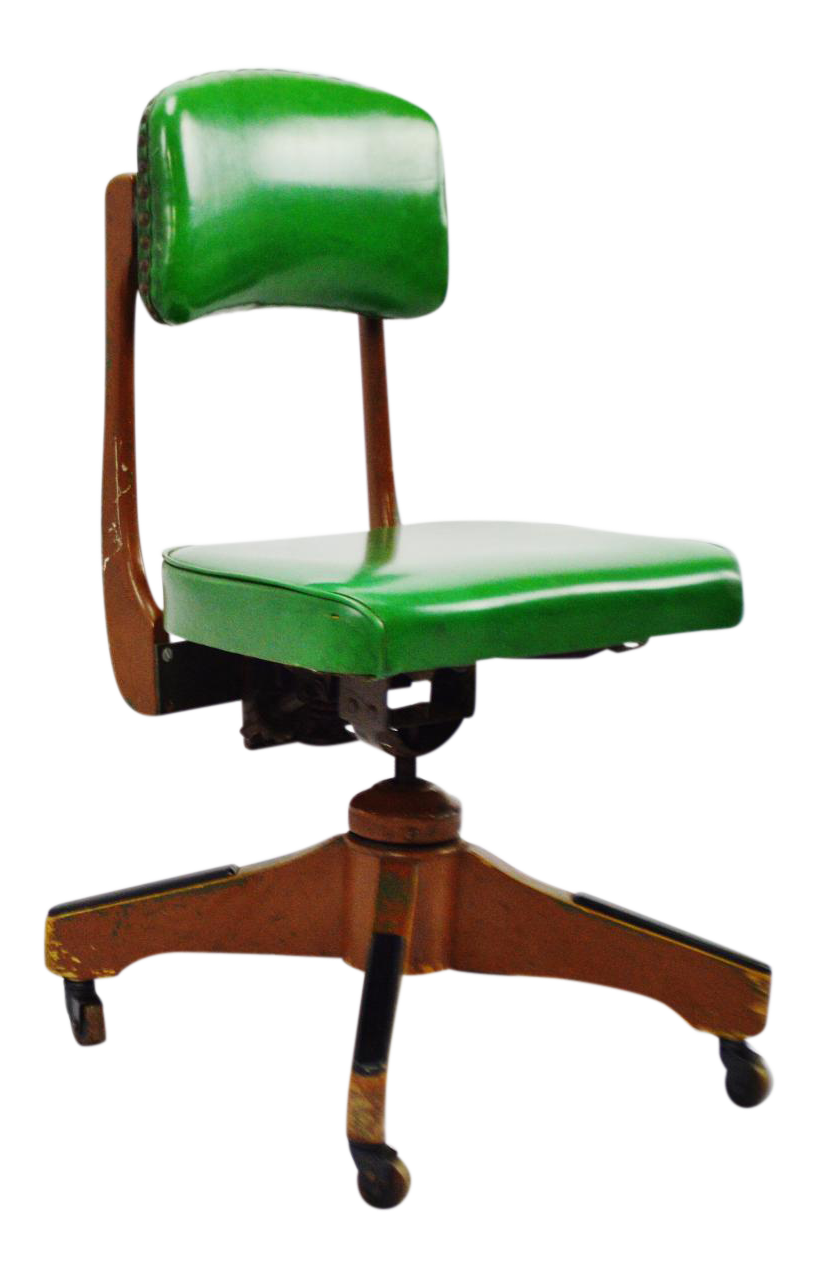 vintage & used green office chairs | chairish