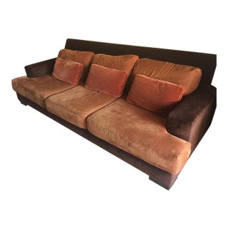 Nathan Anthony Velvet Sofa