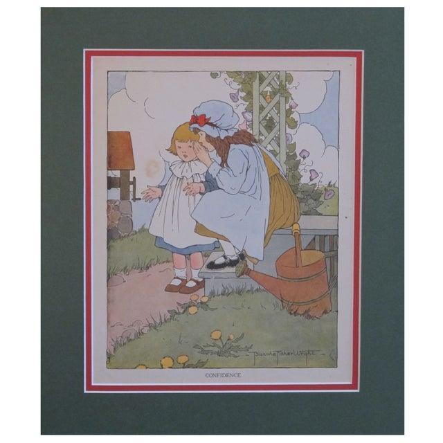 Image of Vintage Matted British Children's Print Confidence