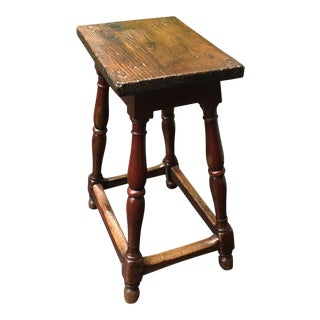19th Century Oak Pub Stool