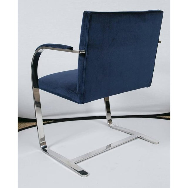 Brno Flat Bar Chairs in Navy Velvet, Set of Six - Image 6 of 9
