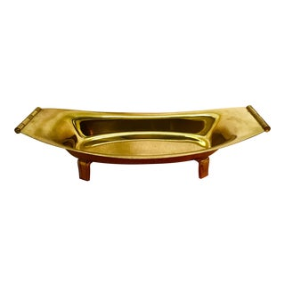 Tommi Parzinger for Dorlyn Silversmiths Lacquered Brass Serving Dish