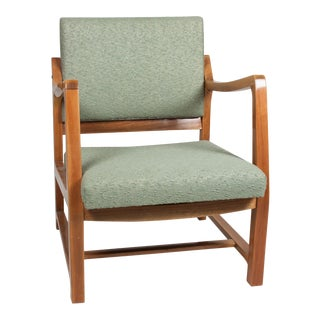 Walnut Armchair by Jens Risom, Danish, 1950s