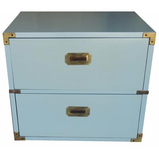 Lane Pale Green Campaign Nightstand