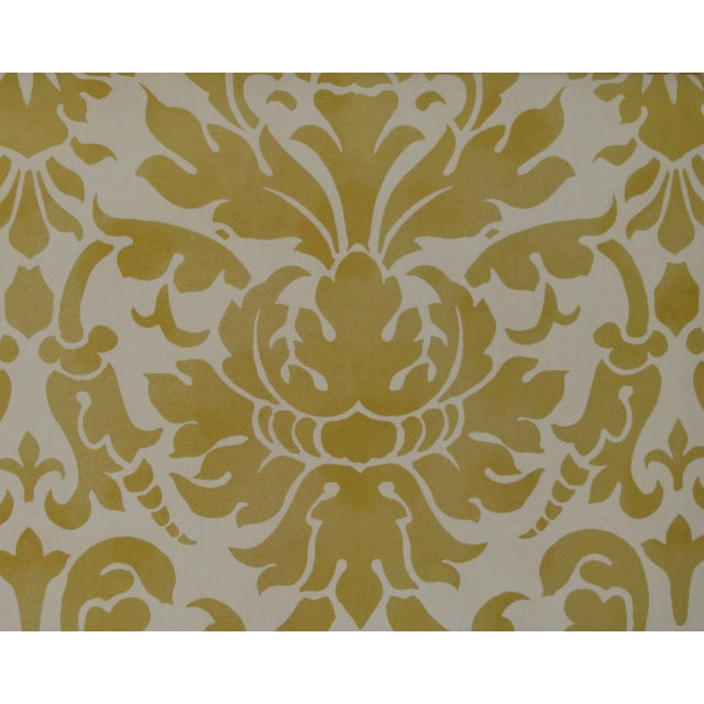 Elegant Italian Fortuny-Style Pillows, 2 Available - Image 3 of 4