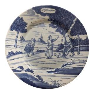 New York Metropolitan Museum of Art Delft Plate