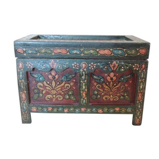 Vintage Turkish Painted Coffer Box
