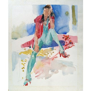 1980s Fashion Watercolor