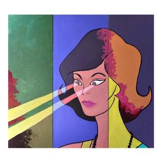 Ein Kommerzielles Geschäft Super Frau Painting