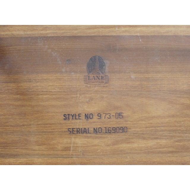 Lane Mid-Century Tile & Wood End Table - Image 10 of 10