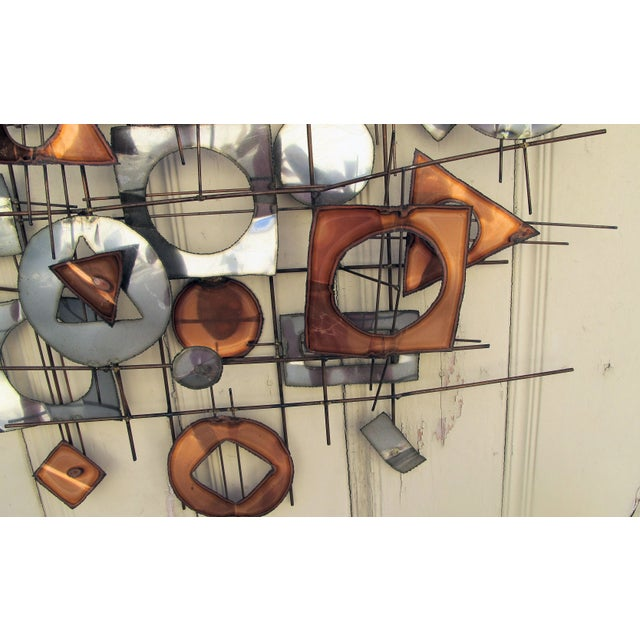 1960s C. Jere Metal Wall Sculpture - Image 4 of 5
