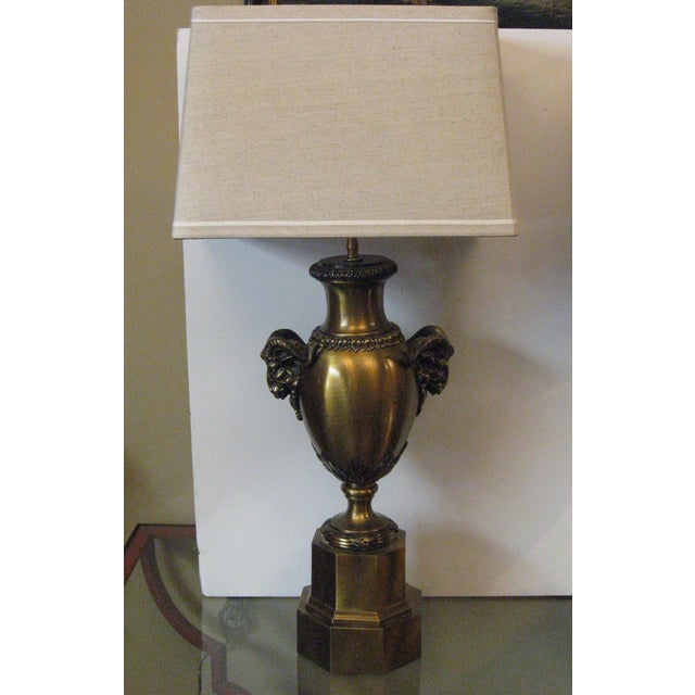 Netmasculine Lamps : Brass Rams Head Urn Table Lamps - A Pair  Chairish