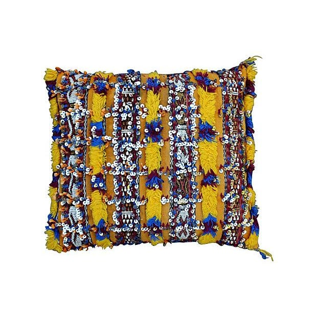 Moroccan Berber Sham With Silk & Sequins - Image 1 of 2