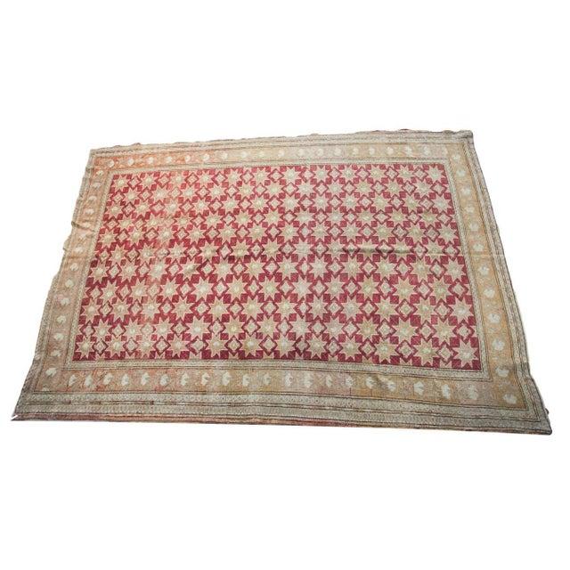 "Vintage Oushak Carpet - 6'3"" x 8'9"" - Image 4 of 4"
