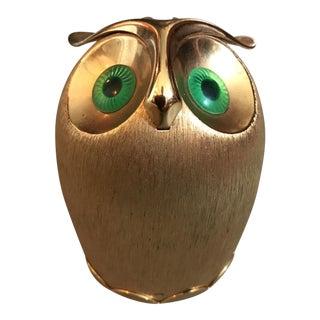 Napier Vintage Brass Coin Owl Bank