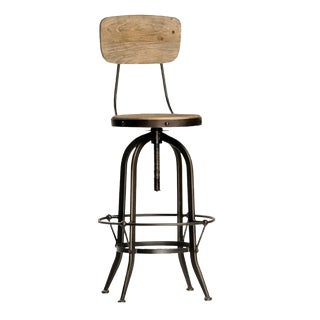Reclaimed Wood & Iron Barstool