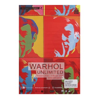 Andy Warhol Exhibition Poster, Warhol Unlimited