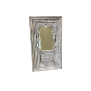 Italian Antique Painted Window With Mirror