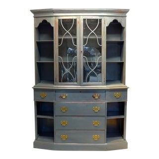 Vintage Mahogany Gray Cupboard