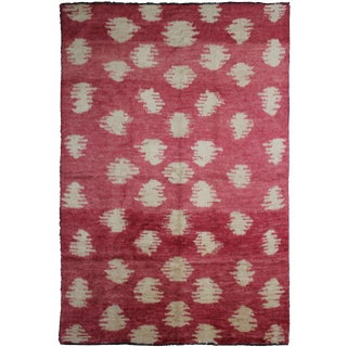 "Hand Knotted Ikat Rug by Aara Rugs Inc. 10'10"" X 8'2"""