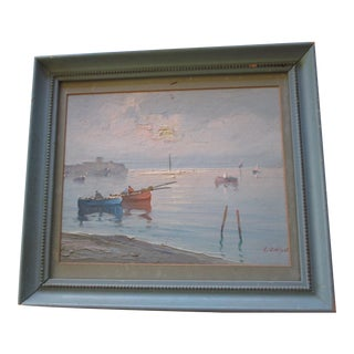 Exquisite Signed Seascape Painting