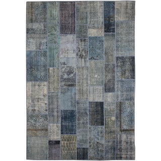 """Antique Hand Knotted Patchwork Rug - 12'2"""" X 9'2"""""""