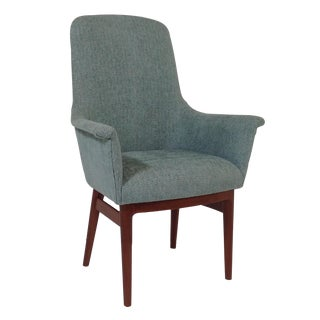 Mid Century Turquoise Dining Chair