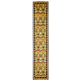"Arts & Crafts Hand Knotted Runner - 3'0"" X 14'8"""