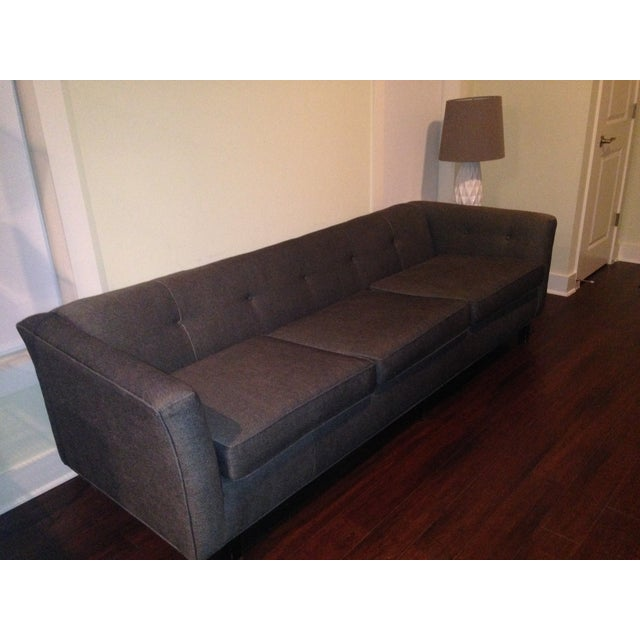 Image of Mid-Century Black Sofa