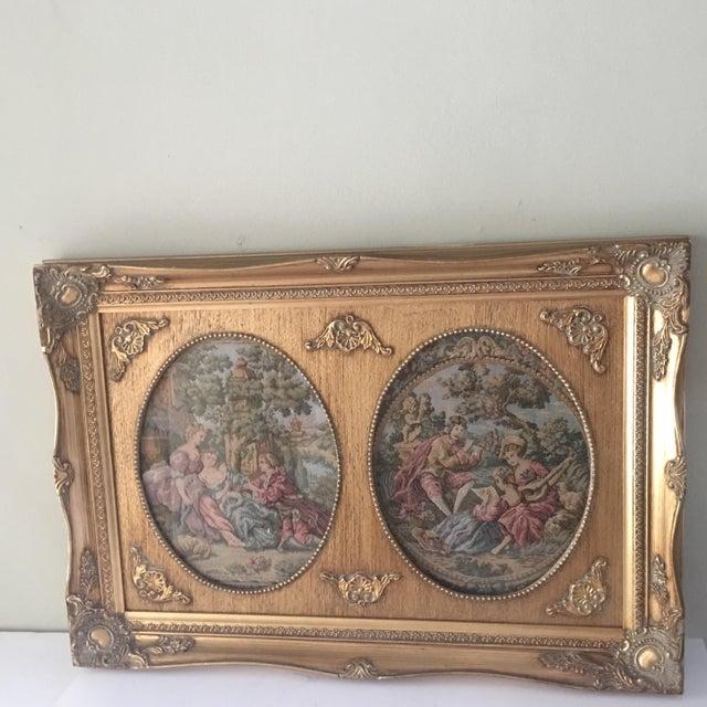 Vintage Parisian Framed Tapestry - Image 2 of 6