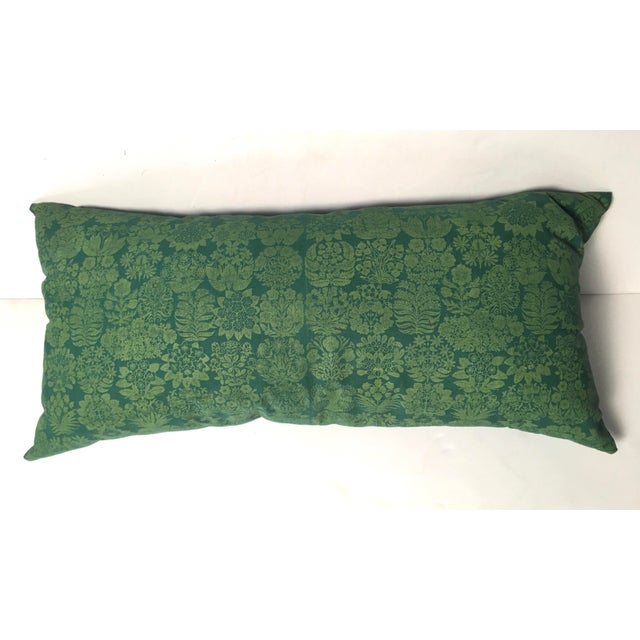 Folly Cove Designers Hand Block Printed Pillow with US State Flowers - Image 2 of 8