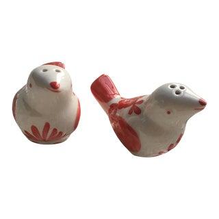 Hand-Painted Bird Salt & Pepper Shakers
