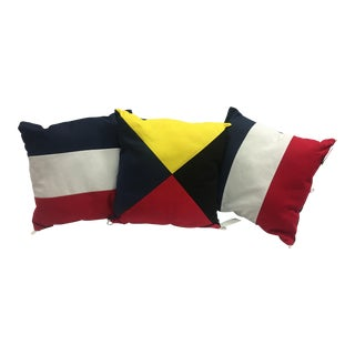 Nautical Flags Pillows Decor - Set of 3