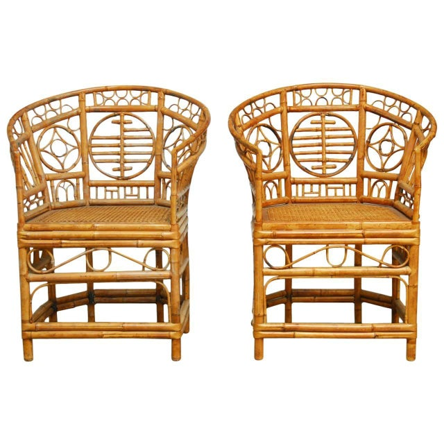 Brighton Pavilion Style Chinoiserie Chairs - Pair - Image 1 of 9