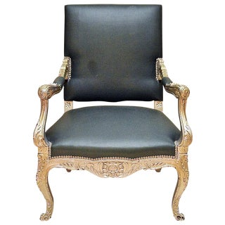 Antique French Silver Armchair
