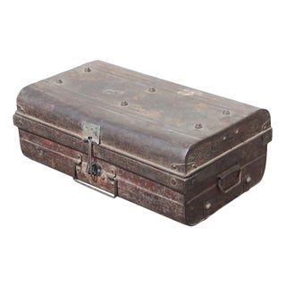 Vintage Red Tin Trunk