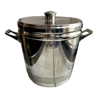 Vintage Chrome Industrial Ice Bucket
