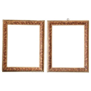 Pair Faux Painted Frames