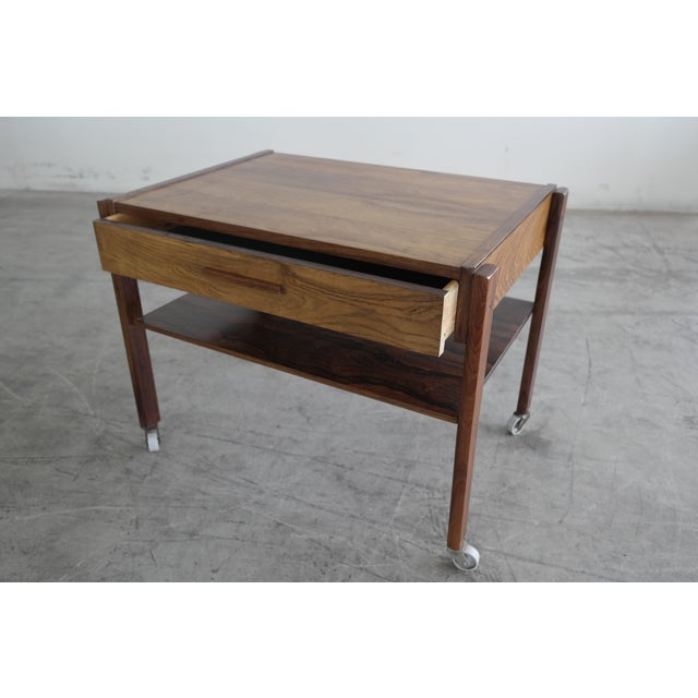 Mid-Century Rosewood Danish Sewing Table - Image 2 of 7