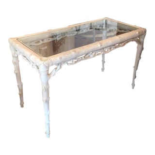 Italian Made Faux Bois Console/Desk
