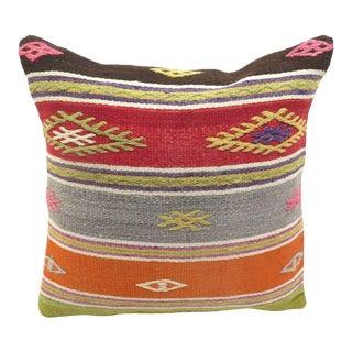 "Turkish Kilim Pillow Cover - 16"" x 16"""