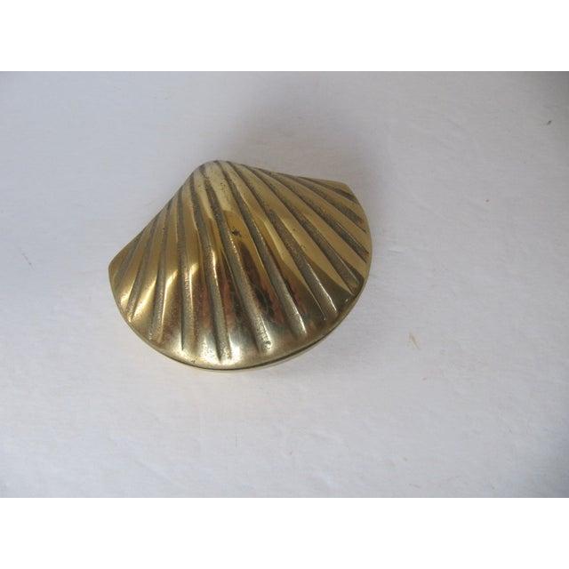 Image of Brass Scallop Trinket Box